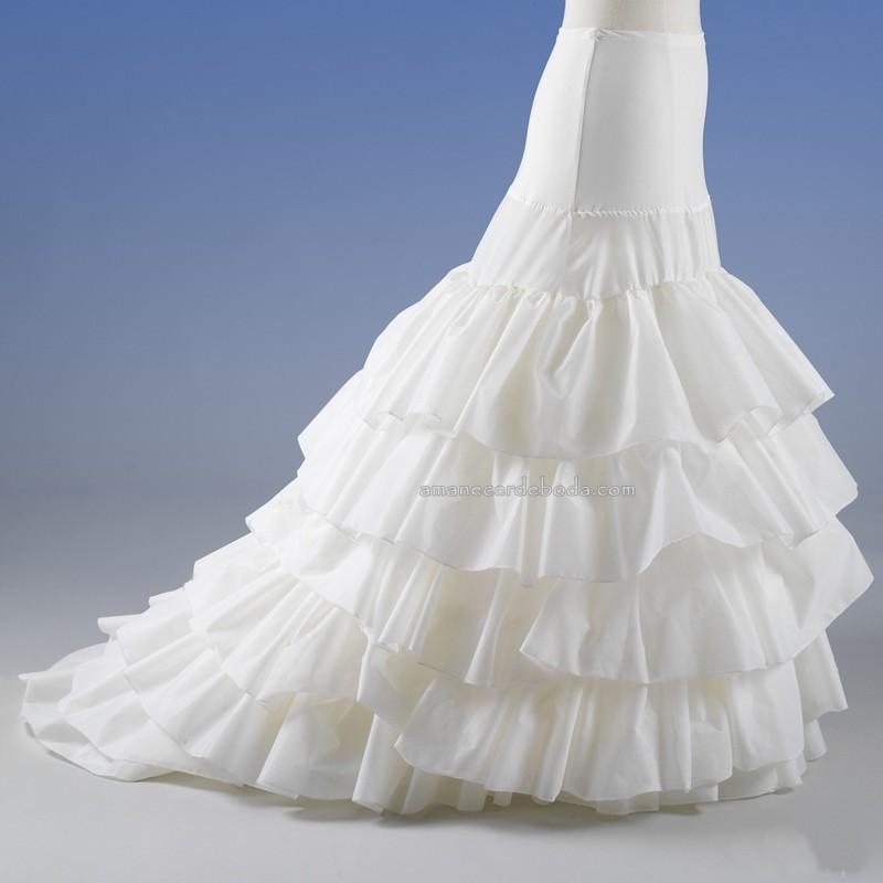 can-can vestido de novia con mucho volumen, 2 aros y varios volantes