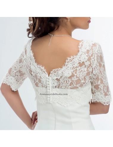 Bolero de novia Camelia