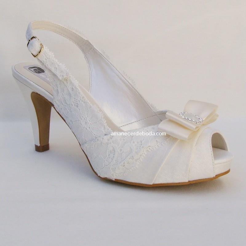 zapatos de novia con poco tacón, cómodos y baratos