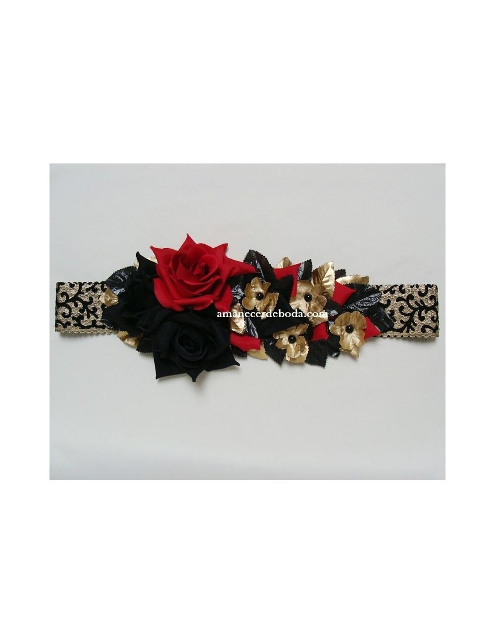Cinturón fiesta flores Genova