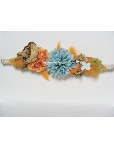 Cinturón flores fiesta Toscana