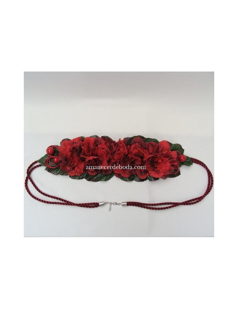 Cinturón fiesta flores Mesina