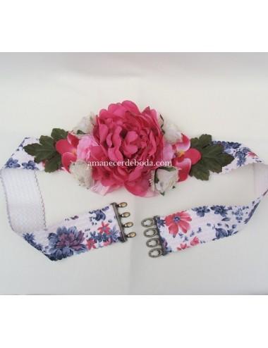 Cinturón flores Veneto