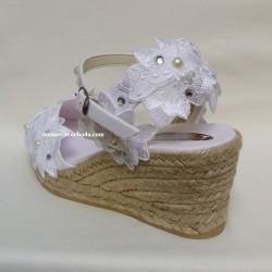Alpargats de novia cuña 8cm