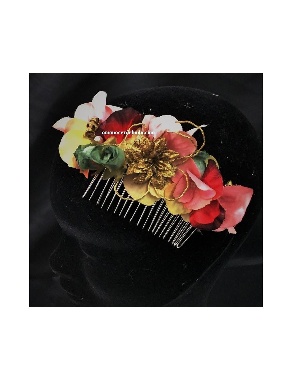 Peineta flores 5879