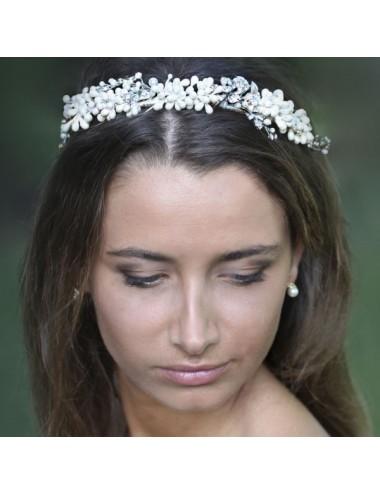 Tocado novia perlado