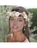 Cinta flores y hojas novias