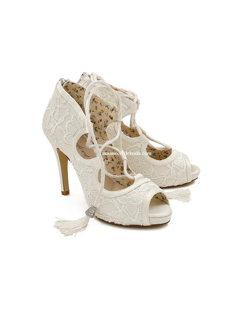 Zapatos abotinados novia sevilla