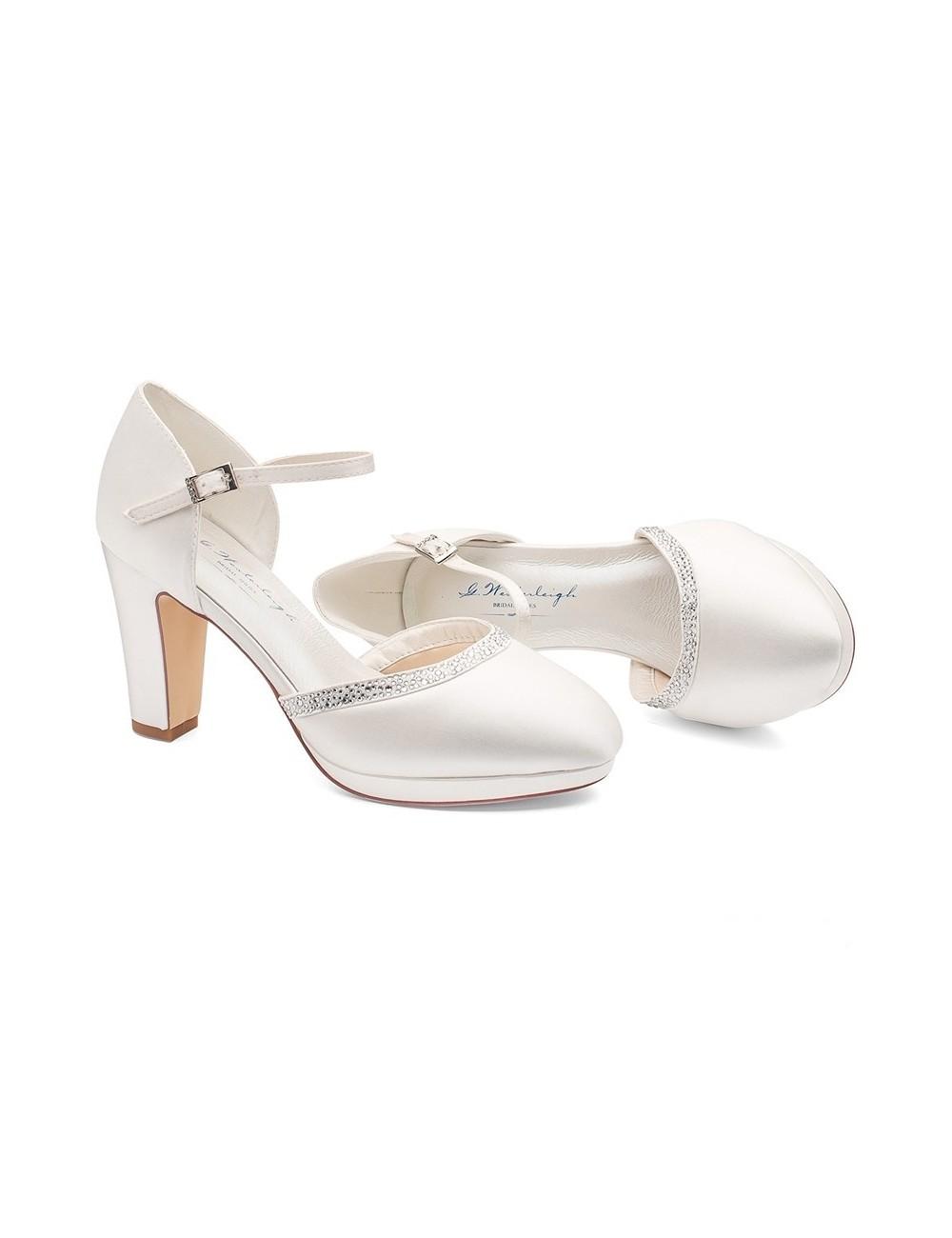 zapatos de novia con tacones anchos muy actuales y comodos