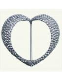 Hebilla corazon metal y cristales