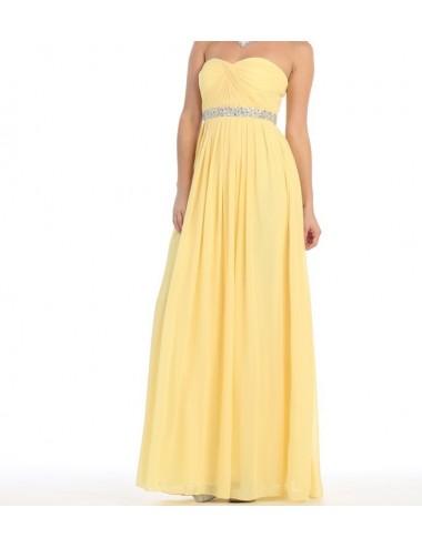 Vestido largo amarillo Mia