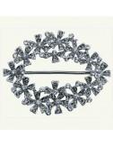 Hebilla ovalada grande cristales