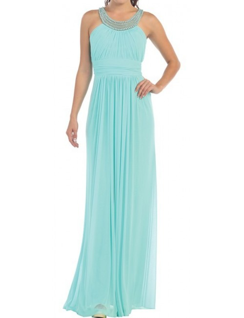 Vestido largo celeste Livia