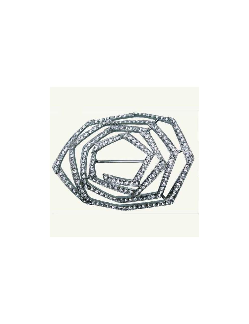 Hebilla espiral cristales