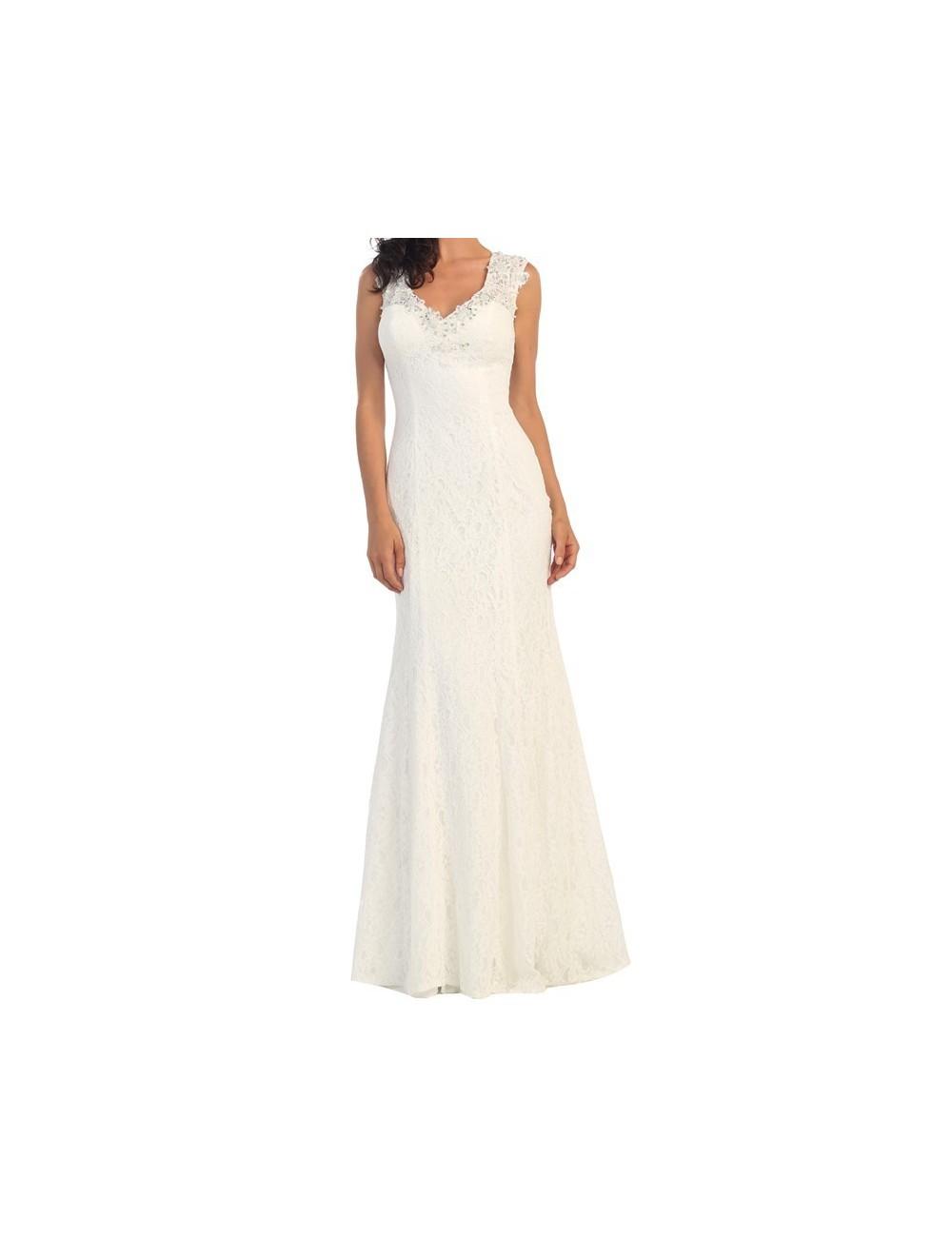 Vestido largo boda Ofelia
