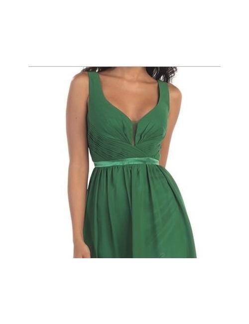 Vestido fiesta Yaiza verde