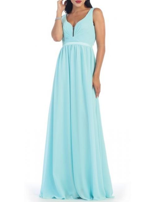 Vestido fiesta Yaiza azul