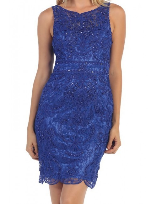 Vestido azul boda Stella