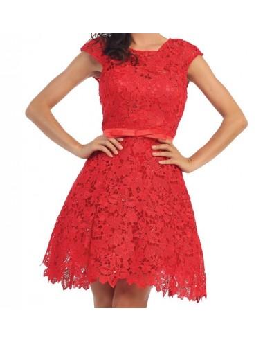 Vestido Fiesta rojo Lia