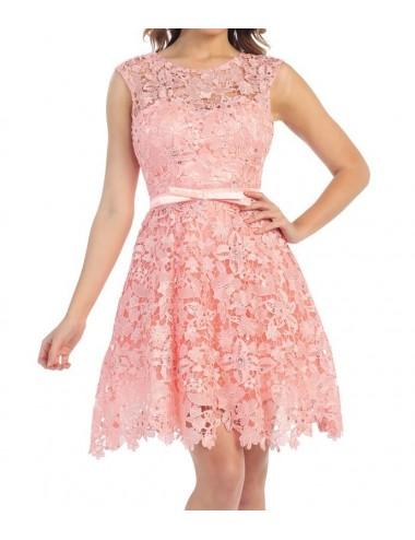 Vestido Fiesta Rosa Lia