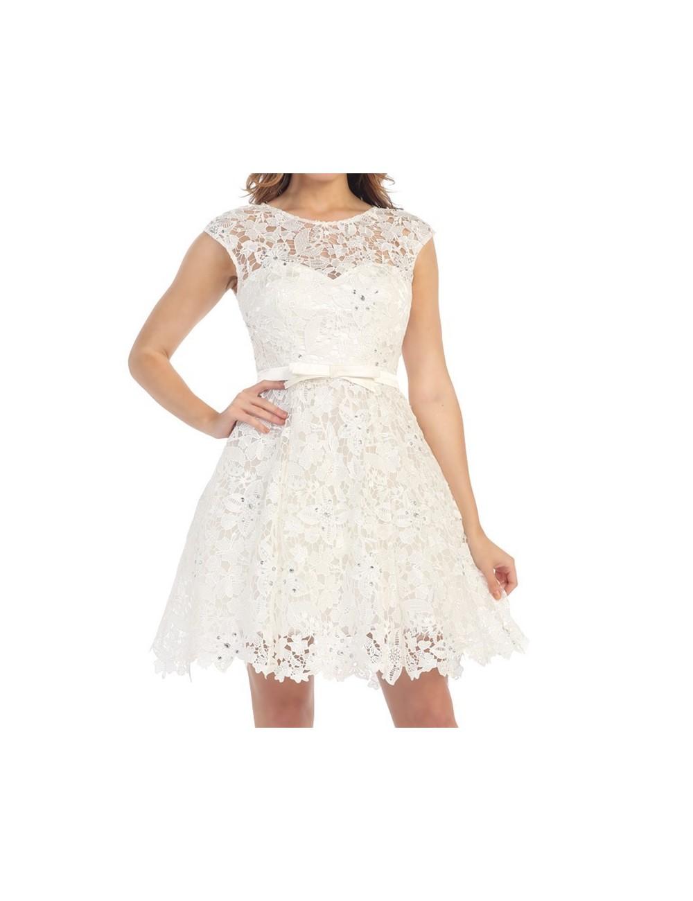 Vestido Blanco Boda Lia