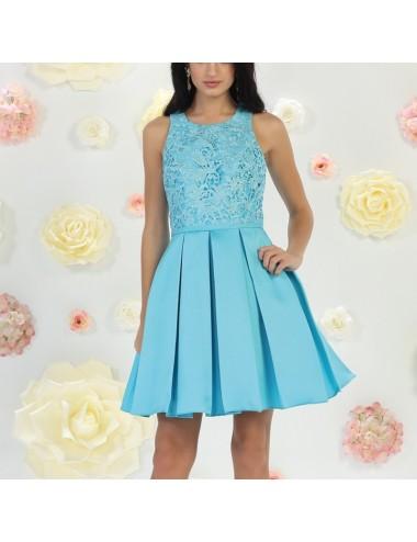 Vestido fiesta azul Zenda