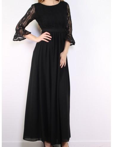 Vestido negro fiesta Vera