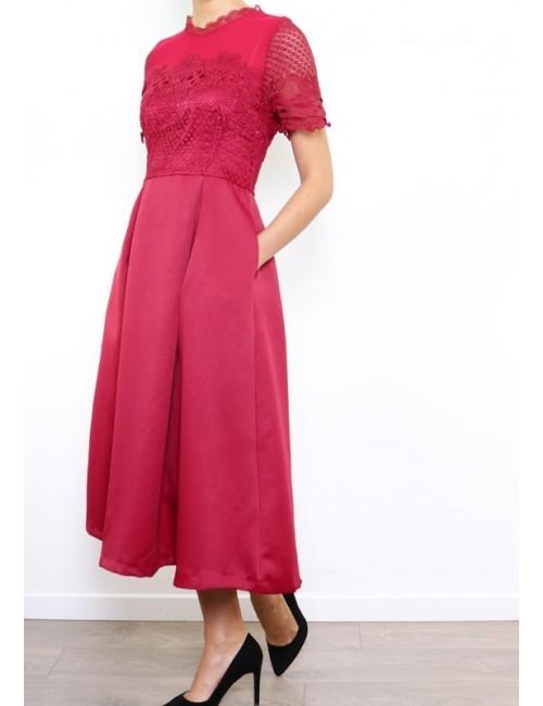 Vestido de fiesta rojo Ottavia