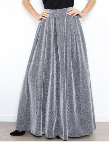 Falda larga plata Simona