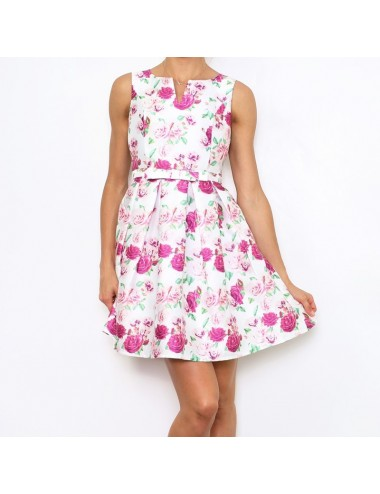Vestido estampado rosa Alessia