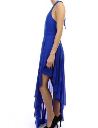 Vestido fiesta azul real Arianna