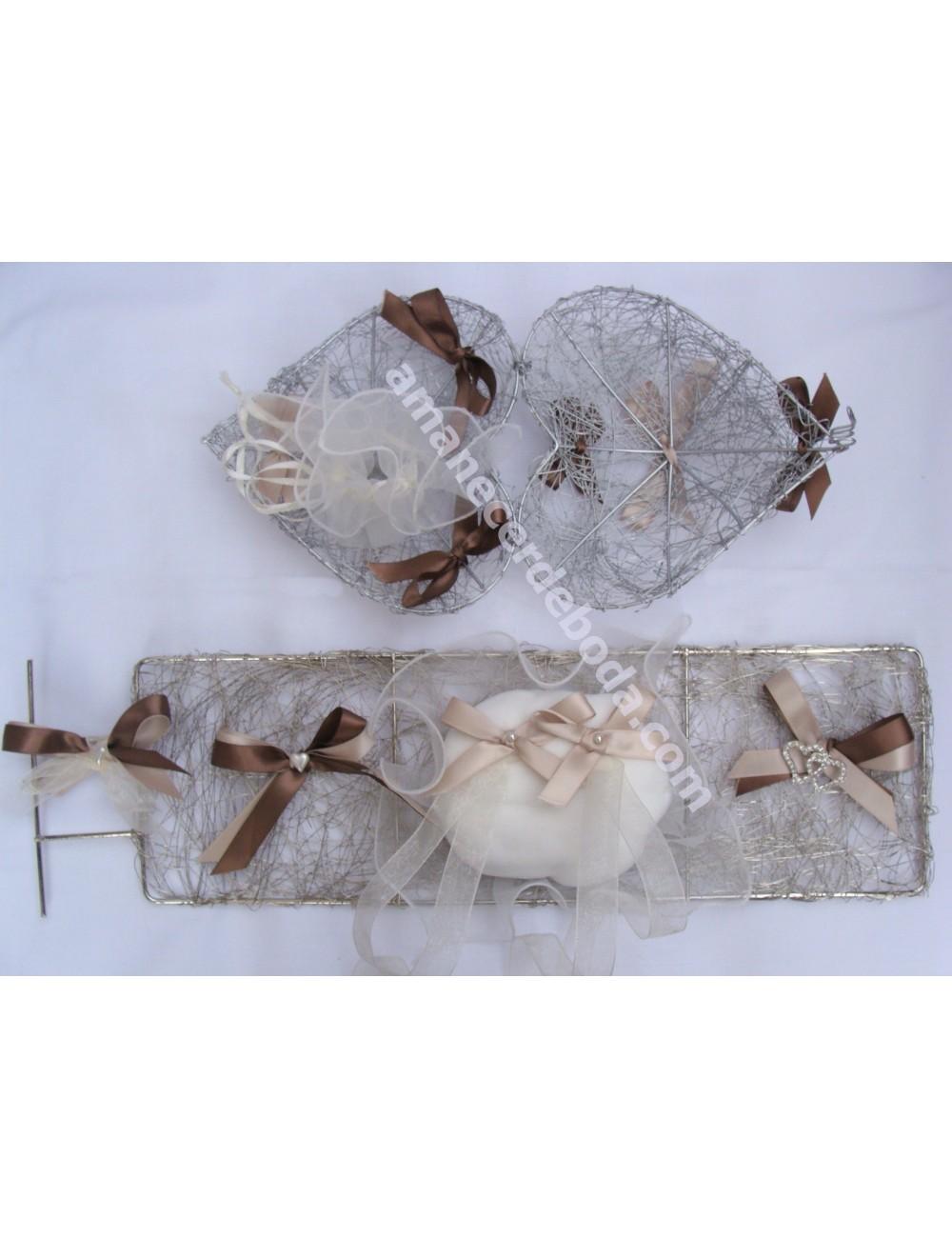 Cesta de arras-Cojín anillos boda