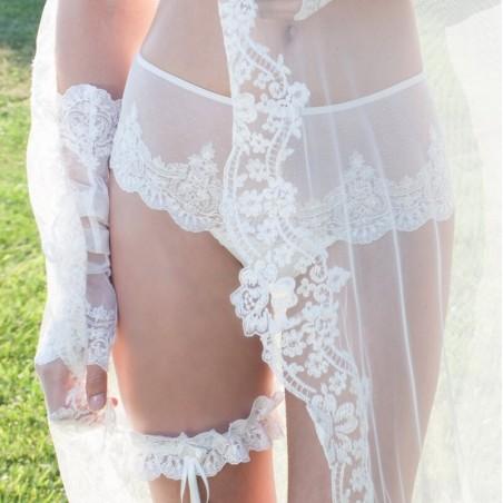 Culotte novias tul bordado