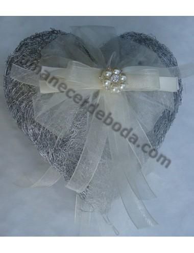 Cojín anillos de boda