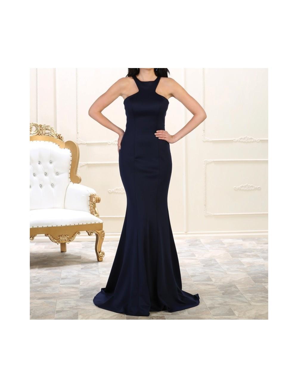 Vestido De Noche Para Cenas De Gala Corte Sirena Muy Elegante