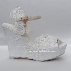 Alpargatas novia Gardenia