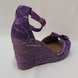 Alpargatas fiesta Violeta