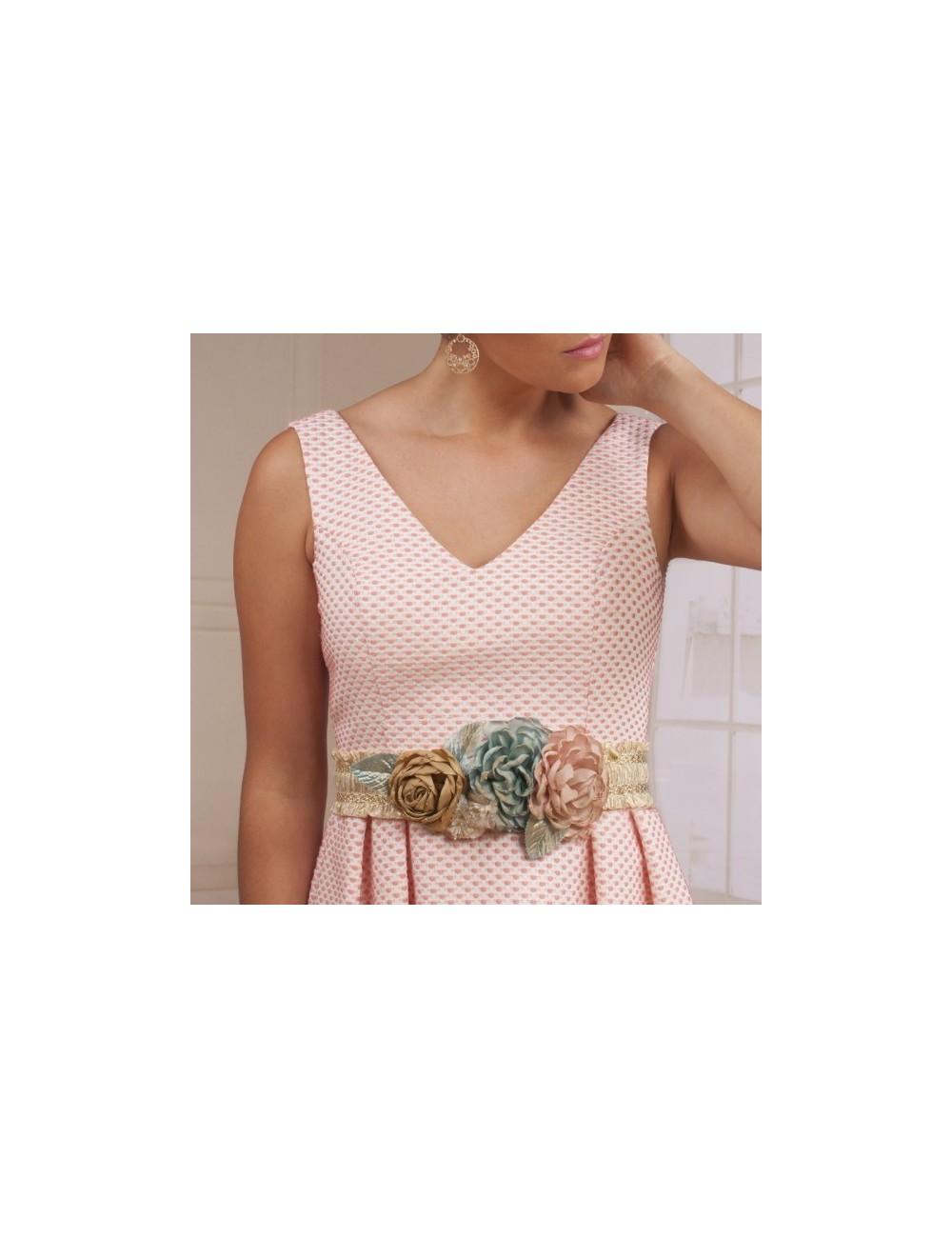 Cinturon flores fiesta Victoria - Amanecer de Boda bd5bead8b45a