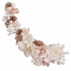 Tocado de novia pistillos y flores