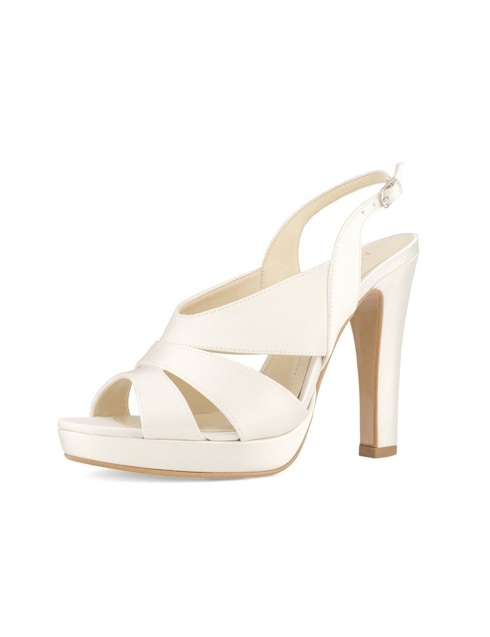 zapatos de novia con tacón ancho y alto y plataforma