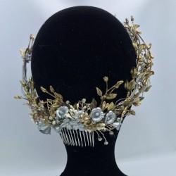 Corona Novia Porcelana Charly