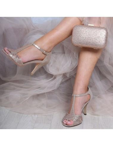 Zapatos novia altos pedrería