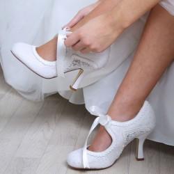 Zapatos Novia tacones medios