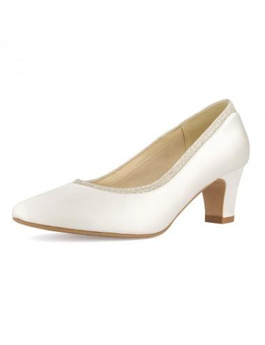 Zapato Novia Poco Tacón