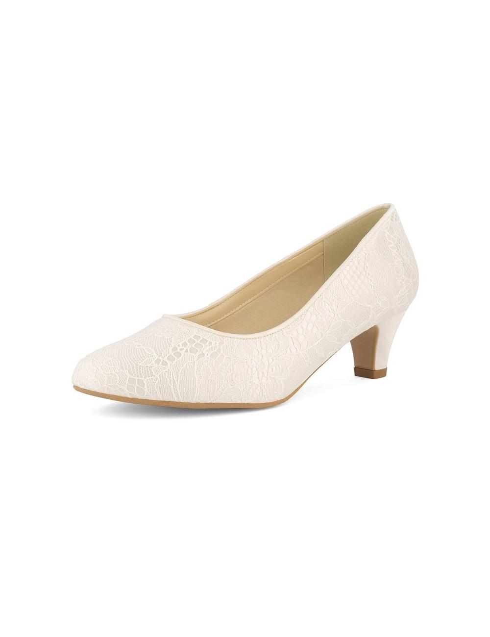 Zapatos Novia tacones bajos y anchos