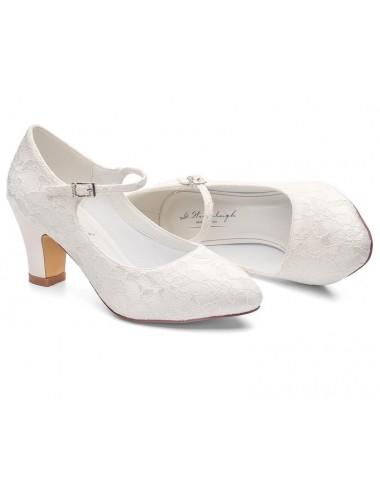Zapatos Novia Tacon grueso bajo