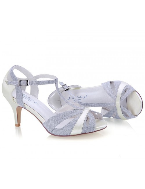 Zapatos Novia Corinne Plata