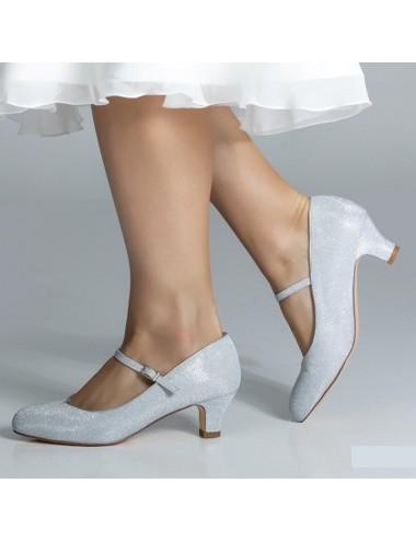 Zapato Novia Marietta Plata