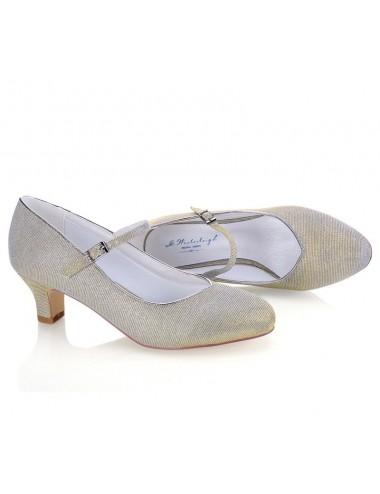 Zapatos Novia Tacón bajo y ancho