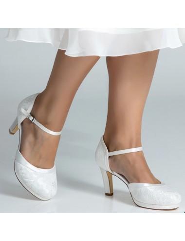 Zapatos Novia Tacones anchos y comodos